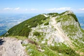 Thumbnail image of View from the Salzburger Hochthron to Geiereck mountain peak on the Untersberg Range, Grödig, Salzbu