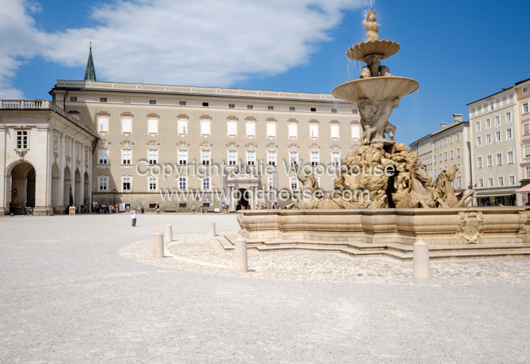 photo showing Residenzplatz With Residenzgalerie And Residenzbrunnen, Salzburg, Austria