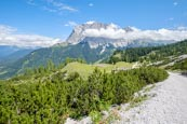 View From The Seebenalm To The Zugspitze Mountain Range, Ehrwald, Tyrol, Austria