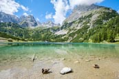 Seebensee In Front Of The Mieminger Mountain Range, Ehrwald, Tyrol, Austria