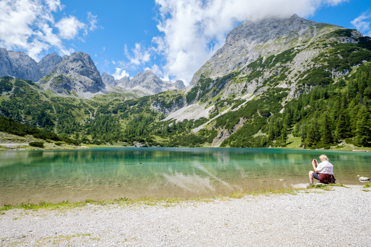 photo showing Seebensee In Front Of The Mieminger Mountain Range, Ehrwald, Tyrol, Austria