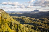 Thumbnail image of view from the Pravcicka brana Pravcice Gate natural sandstone arch, Bohemian Switzerland, Hrensko, U