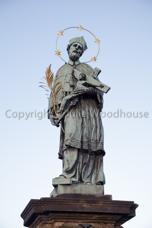 photo showing Statue Of John Of Nepomuk On The Charles Bridge, Prague, Czech Republic