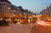 Thumbnail image of Wenceslas Square at dusk, Prague, Czech Republic