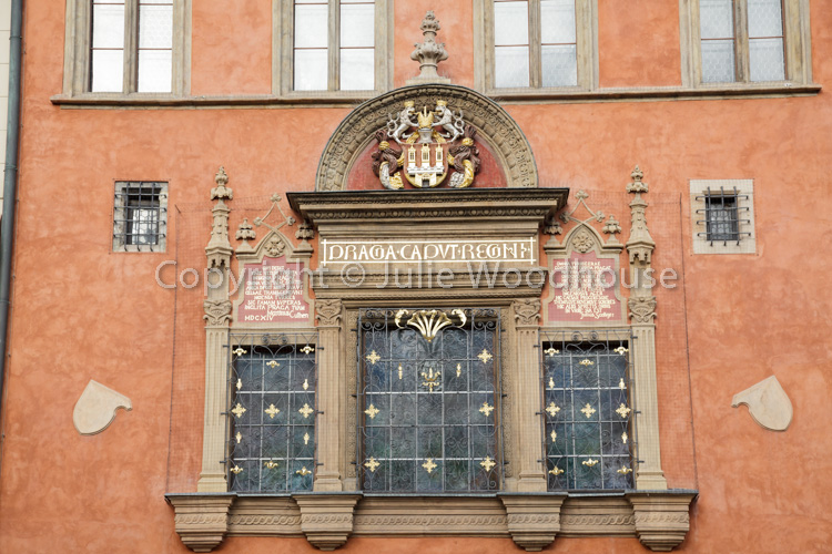 photo showing Old Town Coat Of Arms On The Old Town Hall, Old Town Square, Prague, Czech Republic