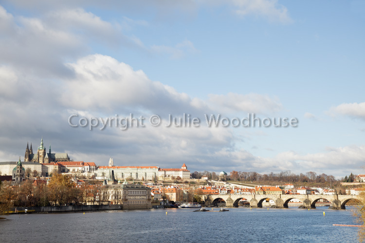 photo showing View Of The Charles Bridge With The Vlatva River And The Castle, Prague, Czech Republic