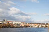 View Of The Charles Bridge With The Vlatva River And The Castle, Prague, Czech Republic