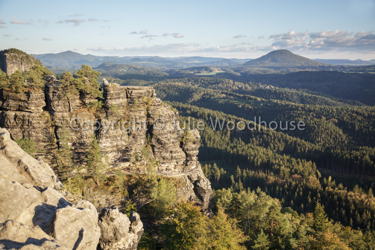 photo showing View From The Viewing Point By The Pravcicka Brana Pravcice Gate Natural Sandstone Arch, Hrensko, Us