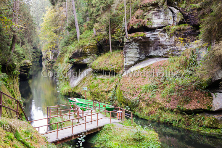 photo showing Edmund Gorge On The Kamenice River – Upper Landing Stage For Boat Trips Through The Gorge, Hrensko,