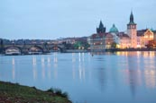 Thumbnail image of view of the Old Town over the River Vlatva from the island Střelecký ostrov, Prague, Czech Republic