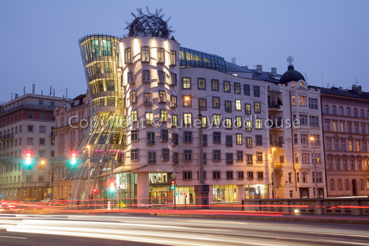 photo showing The Dancing House / Tančící Dům, The Nationale Nederlanden Building On The Rašínovo Nábřeží By Vlado
