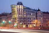 Thumbnail image of The Dancing House / Tančící dům, the Nationale Nederlanden building on the Rašínovo nábřeží by Vlado
