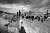 Thumbnail image of on the Charles Bridge under a stormy sky in Prague, Czech Republic