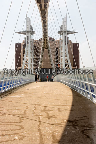 photo showing Salford Quays, The Lowry Footbridge, Manchester