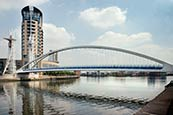 Salford Quays, The Lowry Footbridge, Manchester