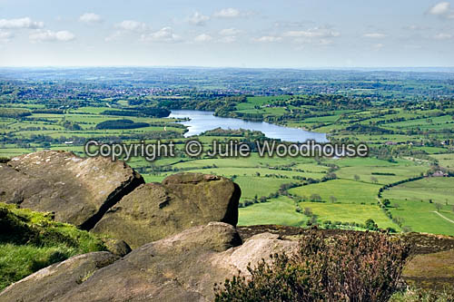 photo showing View Towards Tittesworth Reservoir From The Roaches, Staffordshire