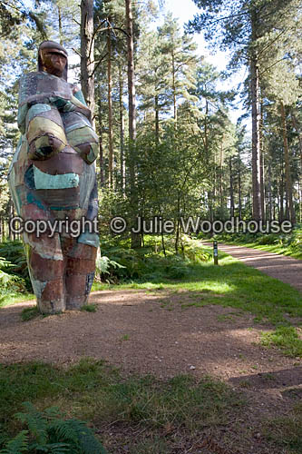 photo showing Cannock Chase - Route To Health Walk, Mother Earth Statue, Staffordshire