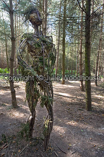 photo showing Cannock Chase - Route To Health Walk, Warrior Statue, Staffordshire