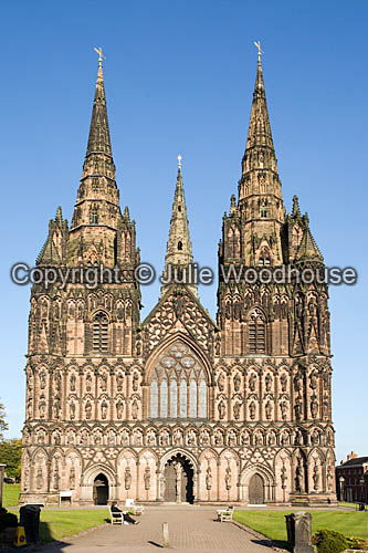 photo showing Lichfield Cathedral  Staffordshire