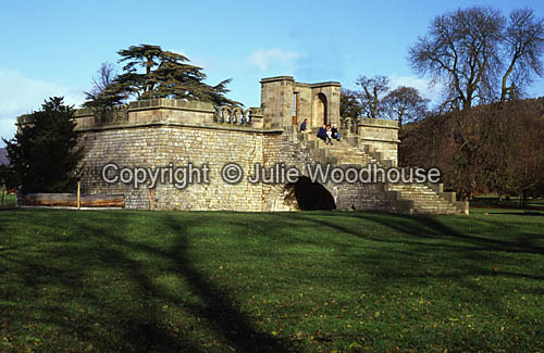 photo showing Queen Marys Bower, Chatsworth, Derbyshire
