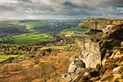 Thumbnail image of Curbar Edge and view, Derbyshire