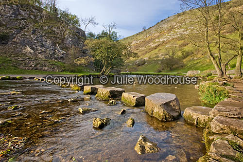 photo showing Dovedale - Stepping Stones, Near Ashbourne, Derbyshire