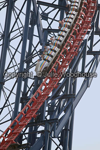photo showing Blackpool Pleasure Beach Roller Coaster