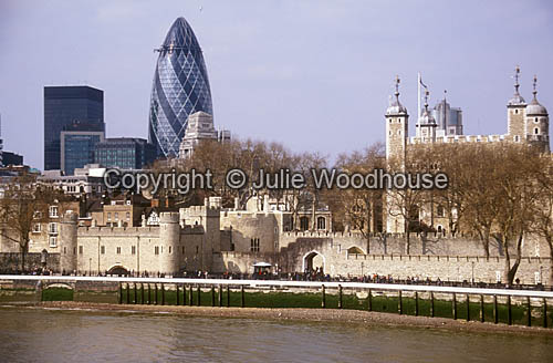 photo showing Tower Of London & Swiss Re Headquarters, London