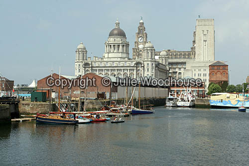 photo showing Royal Liver Building, Port Of Liverpool Building And Canning Dock, Liverpool