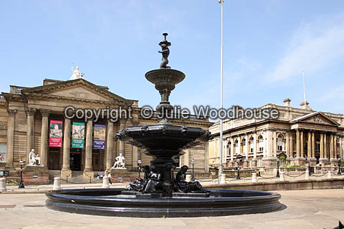 photo showing William Brown Street With Walker Art Gallery & County Sessions House, Liverpool