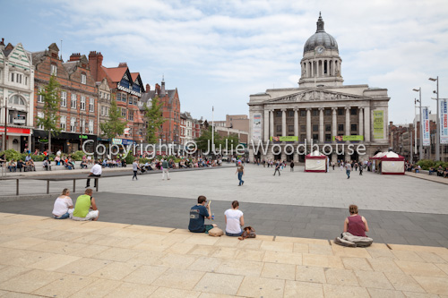 photo showing Market Square With Council House And Old Buildings, Nottingham, Nottinghamshire, England