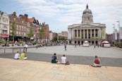 Market Square With Council House And Old Buildings, Nottingham, Nottinghamshire, England