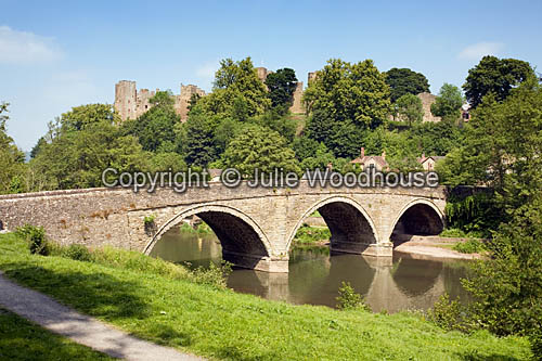 photo showing Ludlow Castle And River Teme, Shropshire