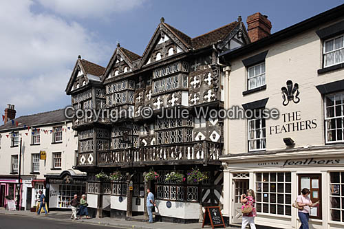 photo showing The Feathers Hotel, Ludlow, Shropshire