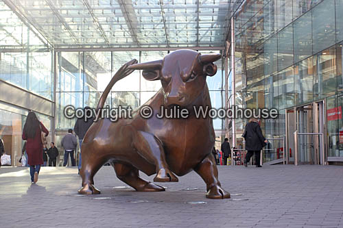photo showing The Bullring Bull, Birmingham