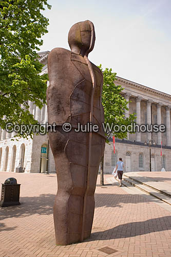 photo showing Iron Man Statue, Victoria Square, Birmingham By Anthony Gormley