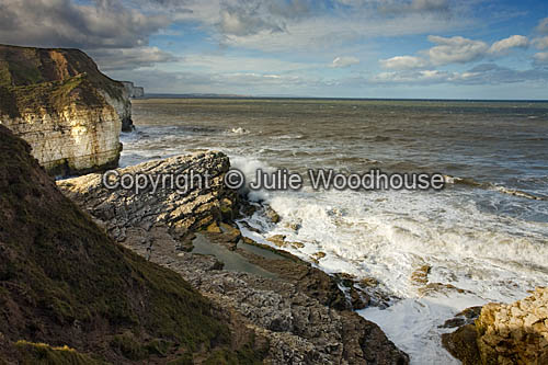 photo showing View From Thornwick Bay, Flamborough With Amphitheatre, East Yorkshire