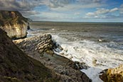 Thumbnail image of view from Thornwick Bay, Flamborough with Amphitheatre, East Yorkshire