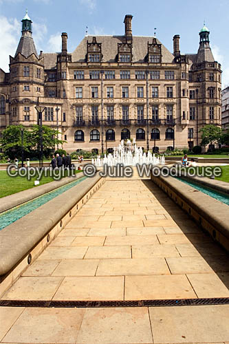 photo showing Town Hall And Peace Gardens, Sheffield