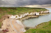 View From Flamborough Cliffs Over North Landing,  Bridlington, Yorkshire, England