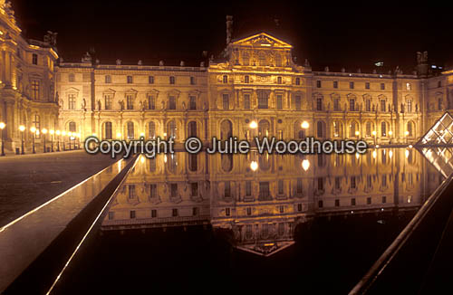 photo showing Le Louvre,  Cour Napoleon And Wing Sully,  Paris