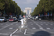 Arc De Triomphe And Champs Elysee, Paris