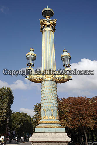 photo showing Decorative Lamppost, Place De La Concorde, Paris