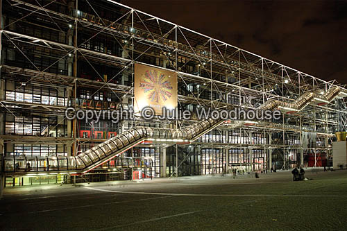 photo showing Pompidou Centre,  Paris