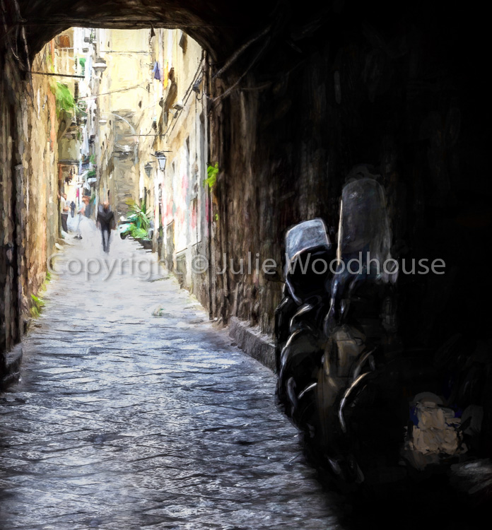 photo showing Typical Street In Naples Old Town, Campania, Italy