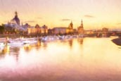Thumbnail image of View of the Altstadt over the River Elbe, Dresden, Saxony, Germany