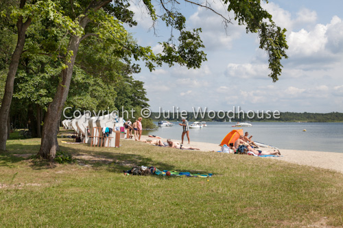 photo showing Beach At Klink On Lake Müritz, Müritz National Park, Mecklenburg Vorpommern, Germany