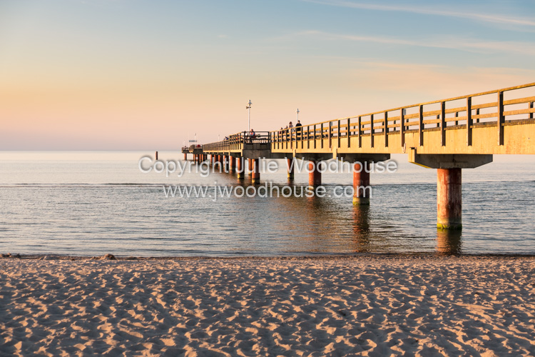 photo showing Pier And Beach In Prerow, Baltic Sea, Darss, Mecklenburg-Vorpommern, Germany