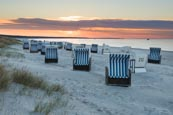Thumbnail image of Beach chairs on the beach of Prerow, Baltic Sea, Darss, Mecklenburg-Vorpommern, Germany
