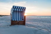 Thumbnail image of Beach chair on the beach of Prerow, Baltic Sea, Darss, Mecklenburg-Vorpommern, Germany